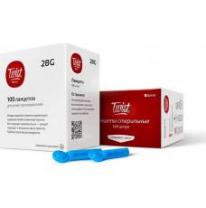 Ланцеты Qlance Twist 28G универсальные №100