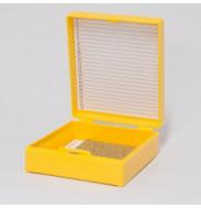 Штатив (бокс) д/предметных стекол вертикальный на 25шт., д/хранения микропрепаратов, 1шт.