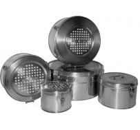 Коробка стерилизационная круглая КФ-3 с фильтрами (Бикс)